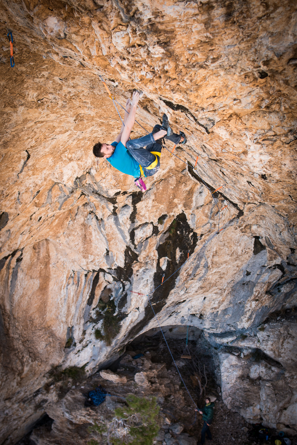 Slovenian climber Jernej Kruder made the first ascent of Dugi rat at the crag Vrulja close to Omiš in Croatia. Graded 9a+
