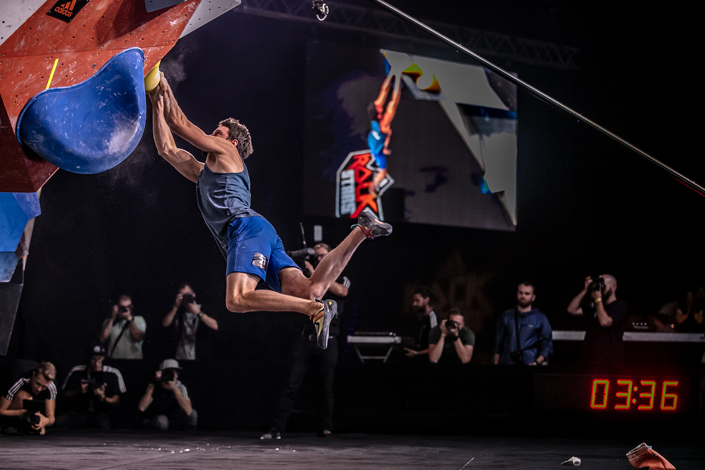 Jernej Kruder climbs in Adidas Rockstars 2018 finals