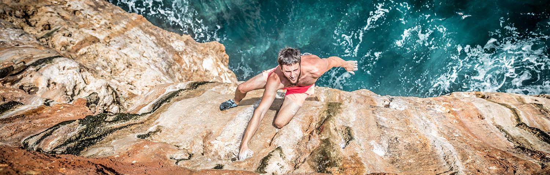DWS climbing in Mallorca Jernej Kruder